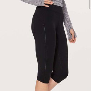 Lululemon Morning Miles Crop Leggings Black Size 6